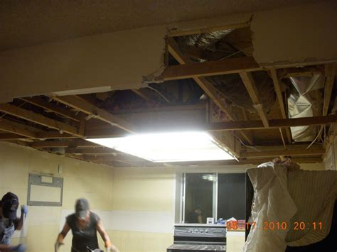 How To Remove Ceiling Drywall by Almost Done With Stripping Drywall