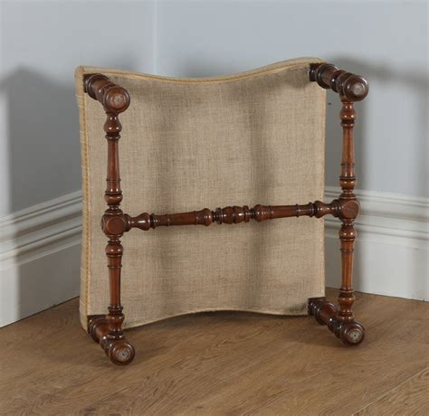 Poof Foot Stool by Antique Duchess Walnut Carolean Style Foot Stool