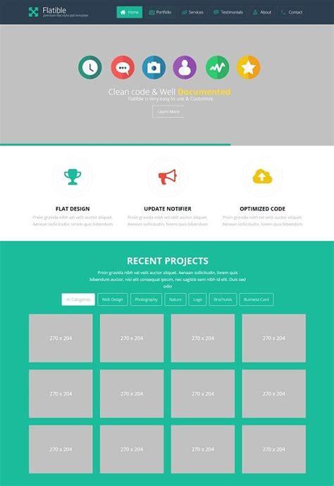 40 best flat design website templates free premium
