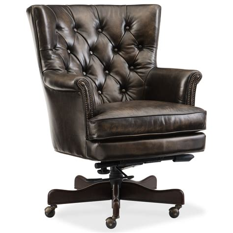 tufted leather desk chair hooker furniture executive seating theodore leather home