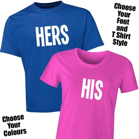 His And Hers T Shirts His Hers T Shirt Set For The Groom