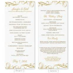 wedding program template download by diyweddingtemplates