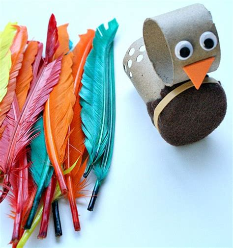 Toilet Paper Roll Thanksgiving Crafts - turkey motor activity and craft preschool crafts