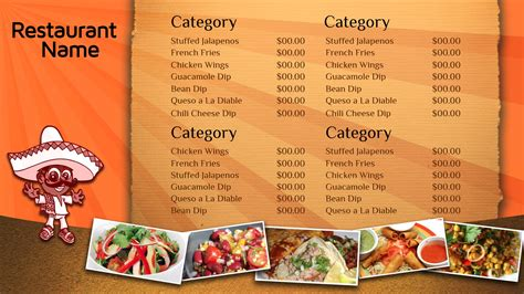 digital menu templates free professional digital signage templates signagecreator