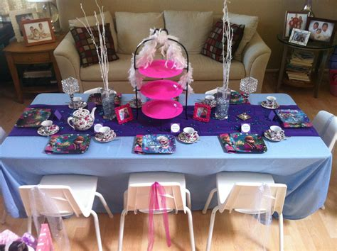 frozen themed party kelso traveling tea kids parties