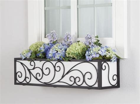 wrought iron window boxes the wisteria window box cage square design wrought