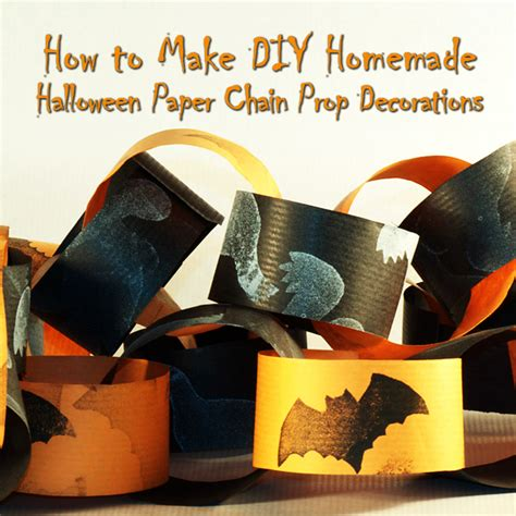 how to make easy halloween decorations at home how to make diy homemade halloween paper chain prop