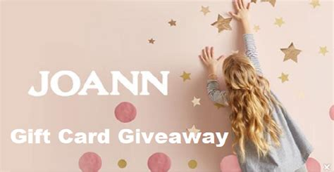 Joanns Gift Card - joann crafts stores gift card quikly giveaway