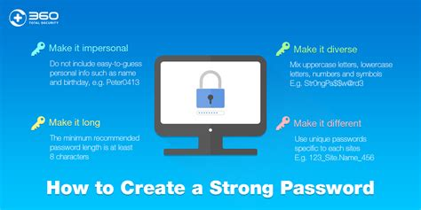 how to create a how to create a strong password 360 total security blog