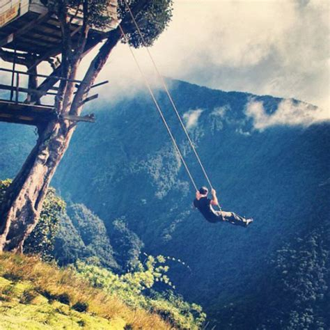 swing ecuador the most terrifying swing in the world 5 pictures