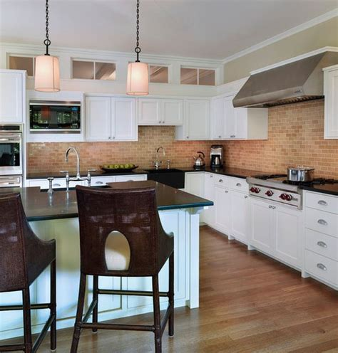 Wall Colors For Kitchens With White Cabinets by Kitchen Brick Backsplashes For Warm And Inviting Cooking