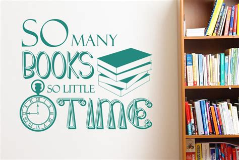 Book Review So Many Books So Time By Nelson by So Many Books So Time Wall Sticker Cut It Out