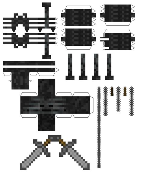 minecraft coloring pages wither skeleton papercraft minecraft wither www imgkid com the image