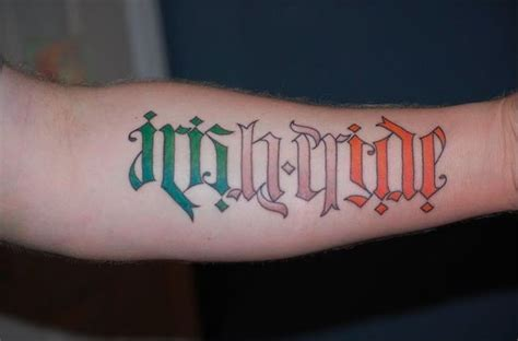 irish pride tattoos 38 ambigram tattoos you ll to see to believe