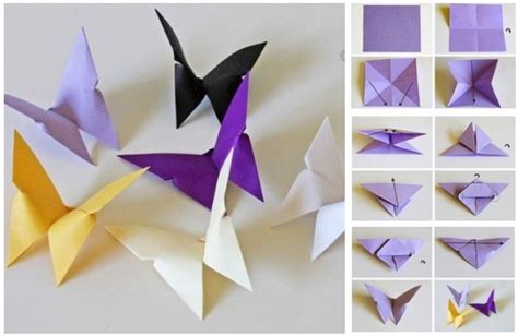 Origami Butterfly - butterfly chandelier mobile diy tutorials