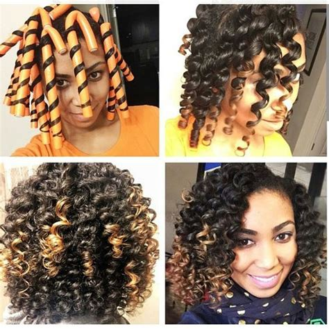Flexi Rod Hairstyles by Flexi Rod Tutorial On Transitioning Or Relaxed Hair