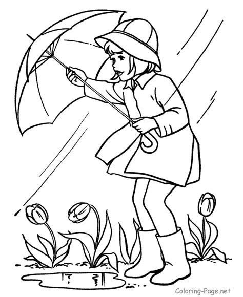 free coloring pages of spring rain