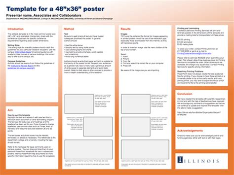 poster template word free for research presentation