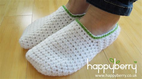how to crochet slippers crochet how to crochet simple slippers for