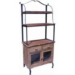 Bakers Rack With Cabinet Groovystuff Teak Wood Bakers Rack Cabinet Tf 334