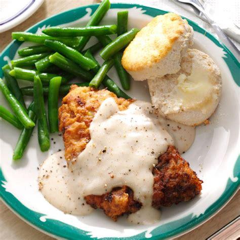country comfort food chicken fried steak gravy recipe taste of home