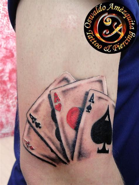 poker aces tattoo colour tatueringar amp piercingar