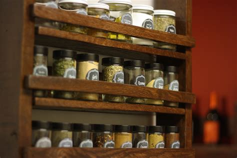 diy spice rack from wood pallet spice rack less than average height