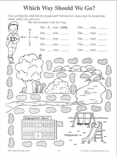 printable cardinal directions worksheet 667867 kindergarten map worksheets reading a