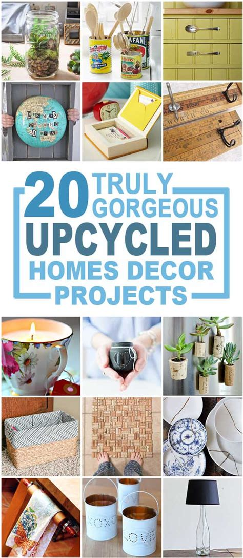 recycled crafts for home decor 20 truly gorgeous upcycled home d 233 cor items you can make