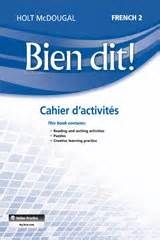 Order Bien Dit Cahier D Activit 233 S Student Edition Level 2