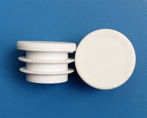 1 Plastic Cap by 38mm Blanking Inserts End Cap 1 1 2inch White