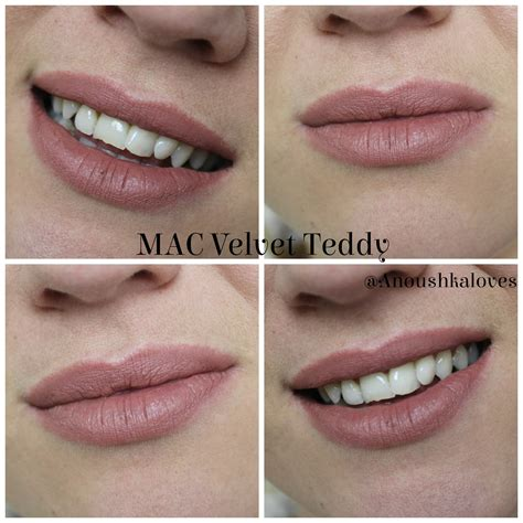 Mac Velvet Teddy lipstick week mac velvet teddy lipstick anoushka
