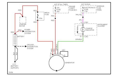 alternator wiring diagram ford ford contour alternator wiring diagram