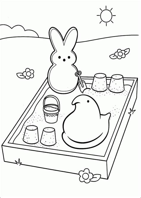 Peep Coloring Pages Marshmallow Peeps Coloring Pages Coloringpagesabc Com