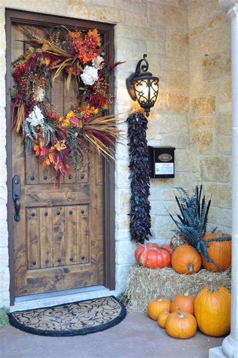 Thanksgiving Front Door Decorations by 40 Easy Thanksgiving Front Door Decorations Ideas