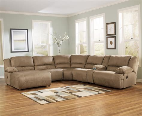 motion sofas and sectionals signature design by ashley hogan mocha 6 piece motion