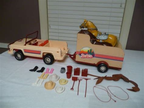 vintage barbie jeep vintage barbie jeep horse trailer with horses