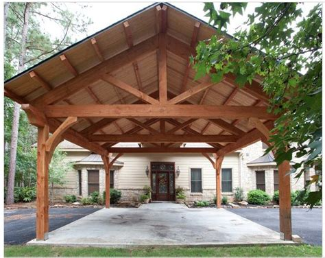 Timber Frame Carports carport timber frame style for the home