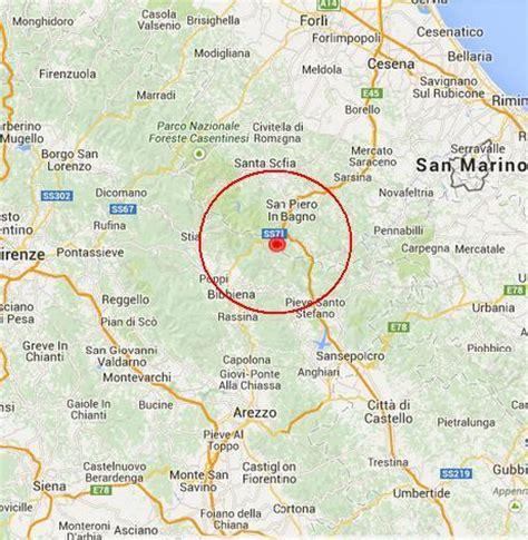 previsioni tempo bagno di romagna ultim ora toscana terremoto avvertito fra bibbiena