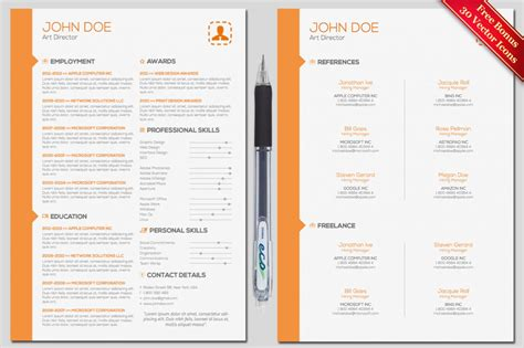 find photoshop resume template