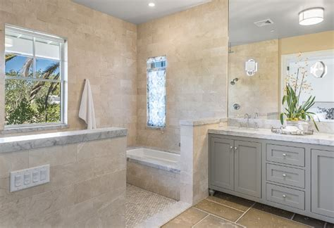 bathroom tile to ceiling napa valley farmhouse with neutral interiors home bunch