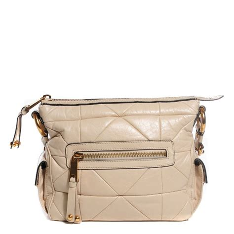 Marc Patchwork Multipocket by Marc Calfskin Patchwork Multipocket Hobo Beige 107684