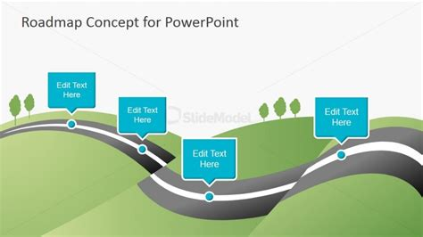 6956 01 Roadmap Concept For Powerpoint 1 Slidemodel Green It Concept Ppt