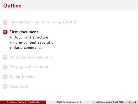 latex tutorial pdf for beginners latex for beginners