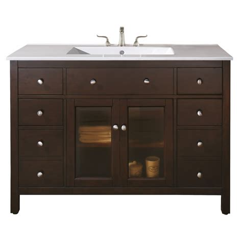 48 inch single sink bathroom vanity with choice of top