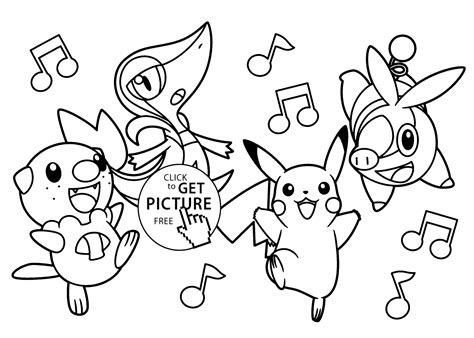 very funny pokemon anime coloring pages for kids