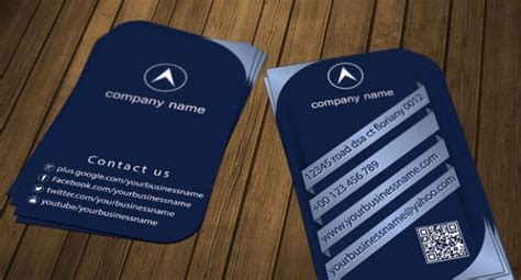 Stylish Business Card Template Psd by Blue Stylish Business Card Template Psd File Free