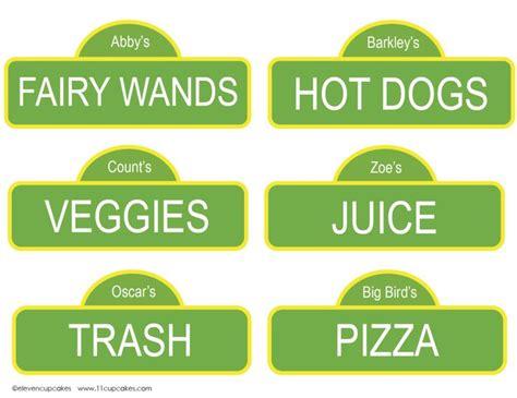 sesame label templates free sesame printable food labels for your sesame birthday via