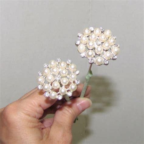 Wedding Bouquet Tutorial by Wedding Bouquet Tutorial Pearl Jewelry Pins