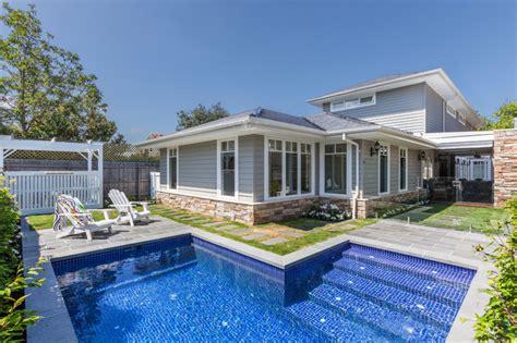 custom design home htons style transitional pool